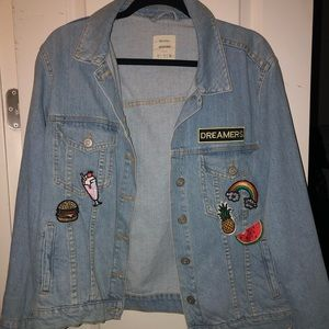 Denim Jacket with Fun Patches